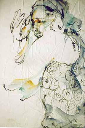 """Acrylique sur papier - 650/500 - """"Danse d'Eva """""""