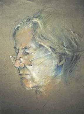 """Pastels secs sur papier de couleur - 320/280 - """"Portrait de liseuse"""""""
