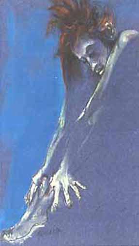 """Pastels gras/papier couleur - 180/130 - """"Théâtre virtuel : le salut de la danseuse"""""""