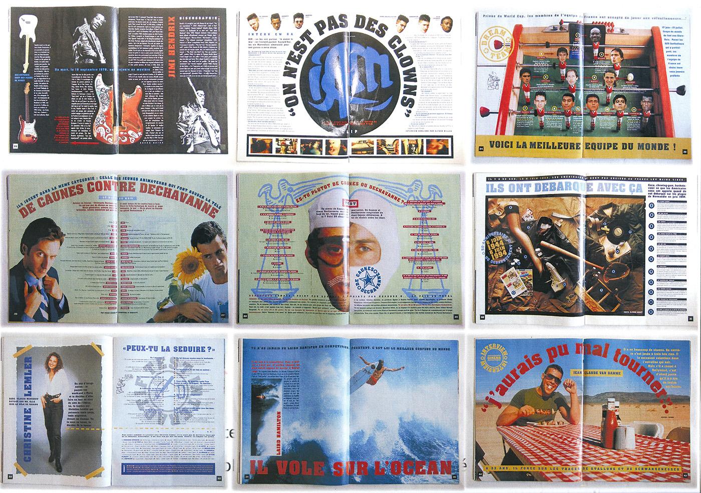 Les  pages internes au magazine XL