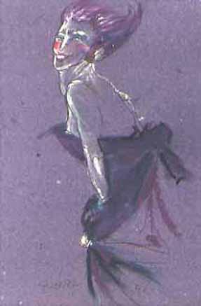 """Pastels gras/papier couleur - 180/130 - """"Théâtre virtuel : la duchesse"""""""