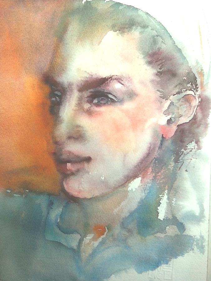 Portrait de Sophie / Aquarelle