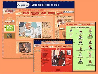 Quelques pages d'uniterre.com.
