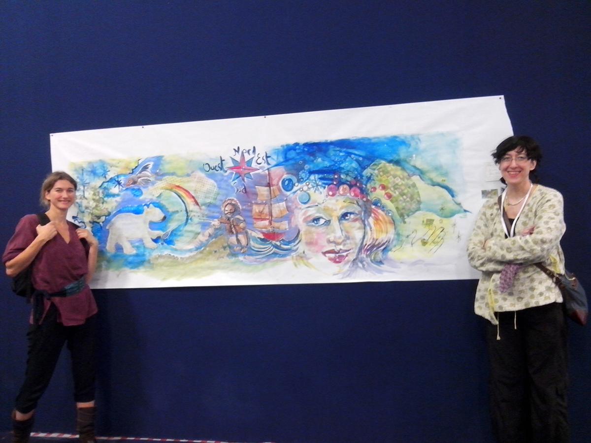 Performance improvisation d'une fresque effectuée en une heure à la Foire d'Automne 2013