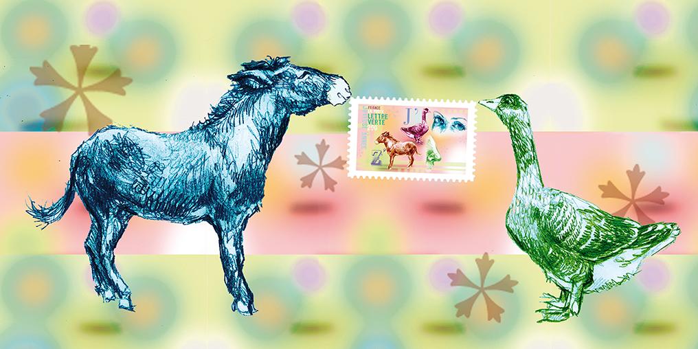 """Souvenir philatélique 2012 """"Meilleurs vœux"""" /  le feuillet gommé dans la carte pliée avec le timbre"""