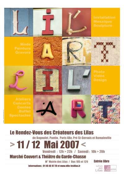 Communication visuelle de l'événement culturel Lil'Art