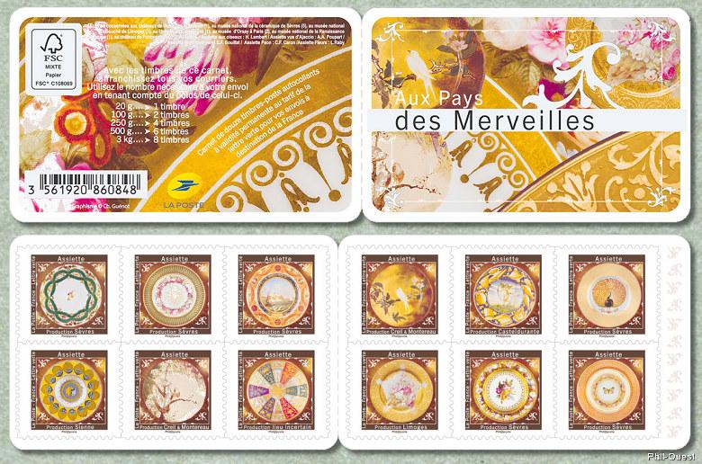 Read more about the article Carnet de timbres Aux pays des merveilles